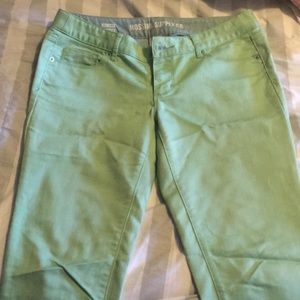 Light green colored jeans